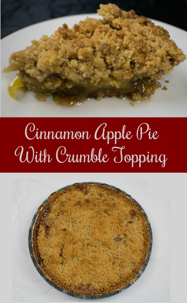 Cinnamon apple pie with crumble topping recipe