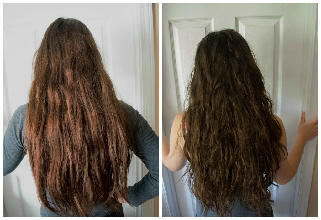 curly girl method before and after 1 week update 2a 2b 2c wavy curly hair