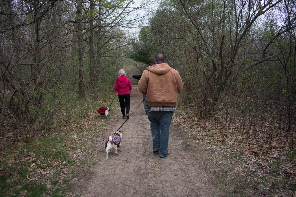 Muskegon KOA walking dogs