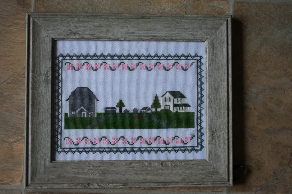 custom farm cross stitch pattern from your family photos