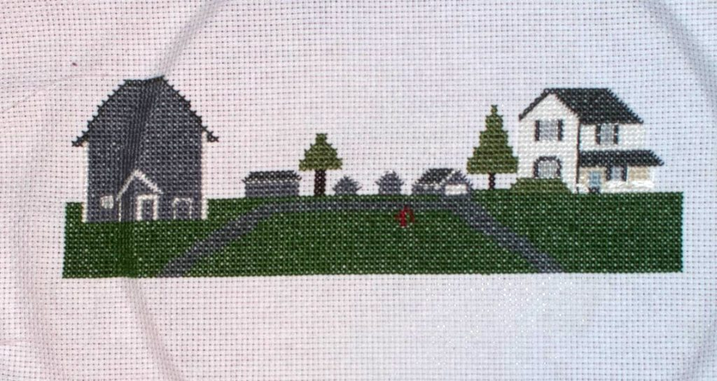Custom farm cross stitch pattern