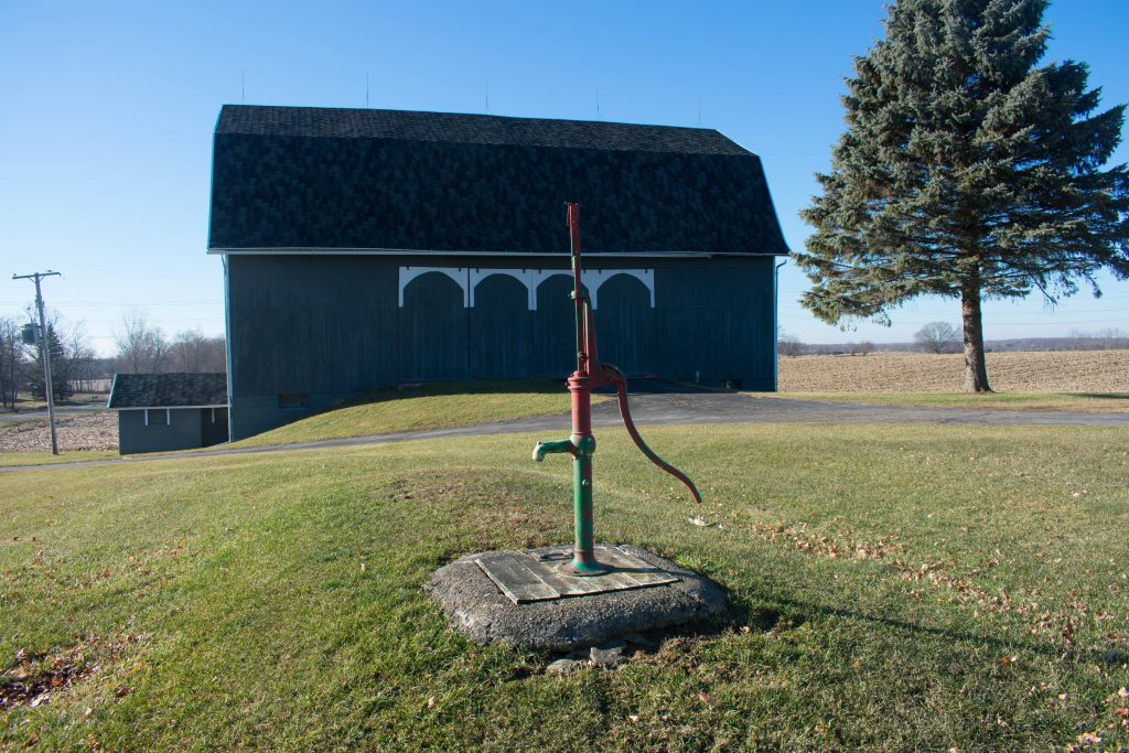 old fashioned farm water pump